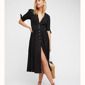 NWOT Free People Love of My Life Midi Dress